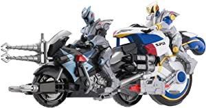 Bandai - Figurine - Power Rangers SPD - Moto Delta + Figurine 12,5 Cm - jaune