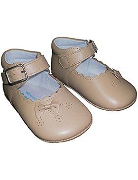 Zapatos Patucos para bebé, Merceditas con lazo en piel de 1ª Calidad mod.1425