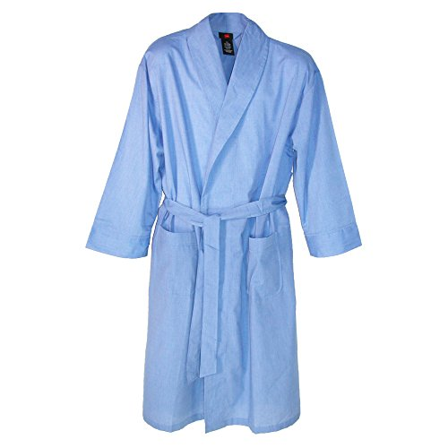 Hanes Herren-robe (Hanes Herren Morgenmantel, Einfarbig blau blau One size Gr. X-Large, blau)