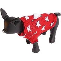 Da. WA 1pcs Casual perchero de pared de invierno ropa de perro Jersey de Navidad Estrella de Navidad mascota suministros