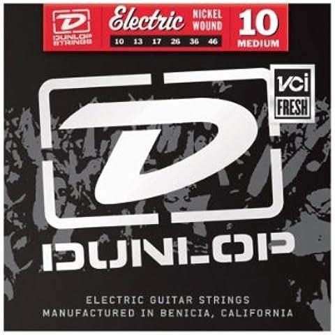 Jim Dunlop den18acero chapado en níquel para guitarra eléctrica de calibre 18G String, medio/pesado
