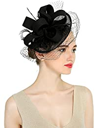 78cf284c37106 Chapeau de Cérémonie Bibi Chapeau Voilette Mariage Béret Capeline Laine  Accessoires Cheveux Femme Mariées