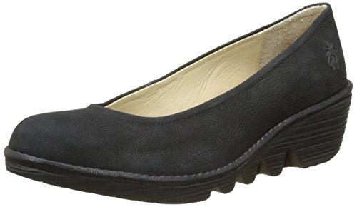 Fly London Women Wedge Shoes, Black (Black/Black 072), 3 UK 36 EU