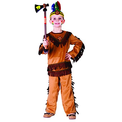 Dress Up America Size 2 Indian Warrior Boy Costume