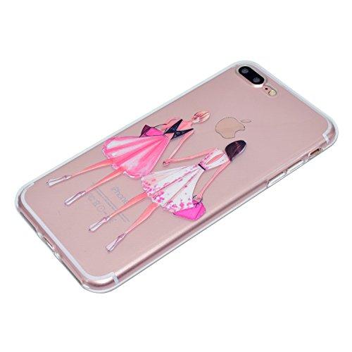 Ecoway Apple iPhone 6s Plus(5.5 Zoll ) Case Cover, Série Dream Girls TPU Transparent Soft Coquille Housse de Protection Housse Pour Téléphone Portable Pour Apple iPhone 6s Plus(5.5 Zoll ) - Girlfriend Girlfriends