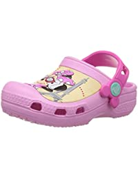 crocs Girl's CC Minnie Jet Set Clog Carnation Rubber Clogs and Mules