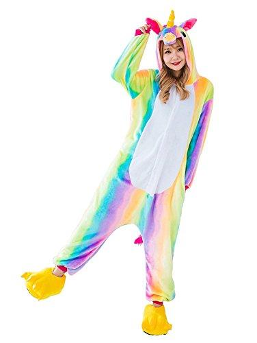 Licorne Adulte Flanelle Kigurumi Pyjama Combinaison Animaux Unicorn