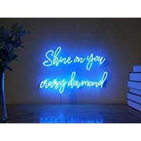 Shine On You Crazy Diamond Custom Dimmable LED Neon Signs for Wall Decor (Customizable Options: Color, Size, Wall Mounted, Desktop, Hanging in a Window/Ceiling,Electrical/Battery Powered)