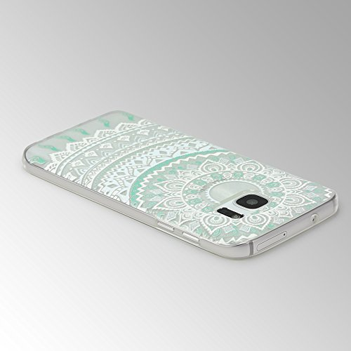 Urcover® Apple iPhone 6 / 6s Hülle | Trend Fashion | TPU in Mandala Mint | Zubehör Tasche Case Handy-Cover Schutz-Hülle Schale Mandala Mint