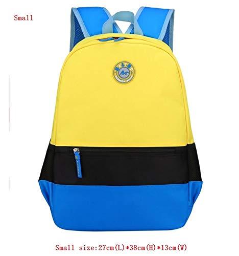 Khdjh zaino per bambini scuola di alta qualità stranti zaini studente waterpfoof nylon scuola borsa per bambini per ragazzi scuola ragazze bambini zaini t giallo piccolo