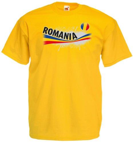 world-of-shirt Romania / Rumänien Herren T-Shirt Vintage Trikot|M