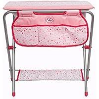ec02b9b0cfe9 Table à langer 2 en 1 rose en métal pour poupée 38 cm (poupée et