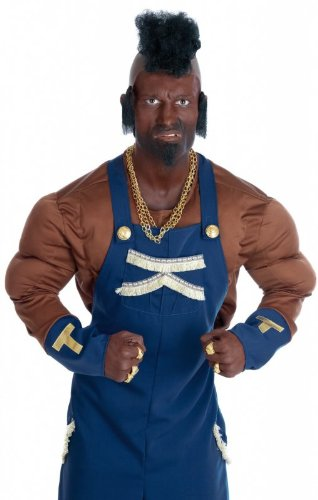 Adult Mr T 80's Mercenary Costume