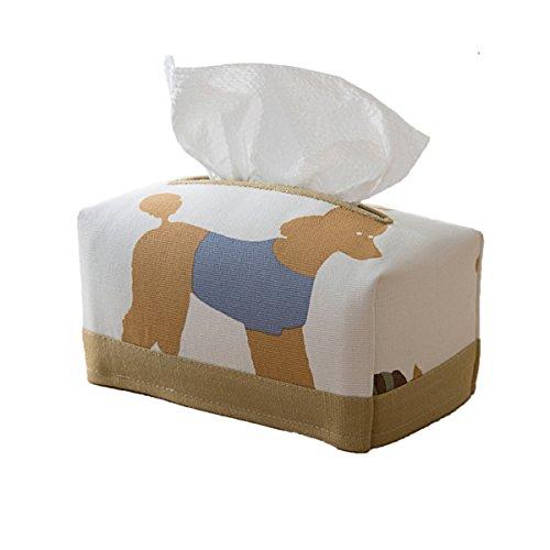 SASA niño Caja de pañuelos Portapapeles Familiar dispensador de Papel higiénico Caja de pañuelos Rectangular Delgada, Yellow