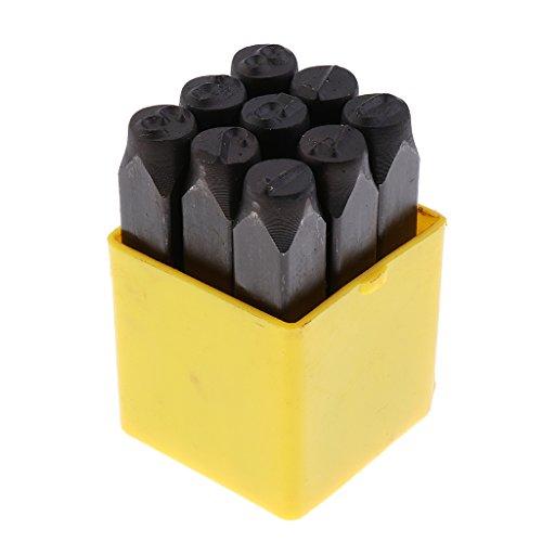 Baoblaze Stahl Stempel Nummer Punch Juweliere Set Metall in Fall - Nummer 10mm -
