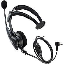 Coodio M2HS1 Motorola Radio Auriculares 2 Pin Micro-Auricular Micrófono [Cancelación de Ruido] Seguridad y Bodyguard Para 2-Pin Motorola Plug Walkie-Talkie Transceptor Emisor y Receptor PMR