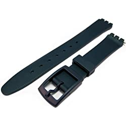 Swatch Style Blue Resin Rubber Watch Strap Band 14mm