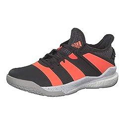 adidas Mens Stabil X Handball Shoe, Grey/Signal Coral/Grey, 44 EU