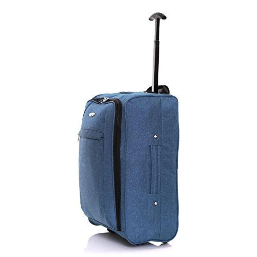 Twill Trolley Handgepäck 50 x 35 x 20 cm, Blau Blau