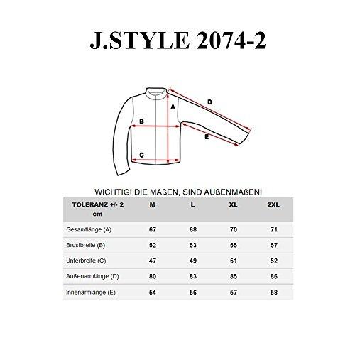 BOLF Herren Kapuzenpullover Sweatjacke Sweatshirt Hoodie Pullover Mix 1A1 Pulli Anthrazit-Mittelblau_2074-2