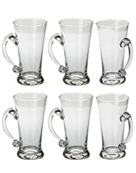 Afast New Stylish & Designer Multipurpose Beer Glass with Handle (Set of 6)