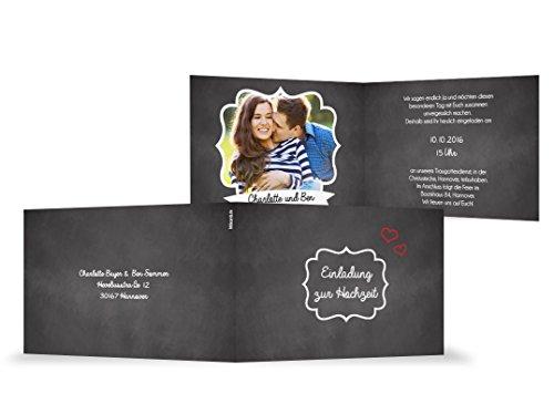 littlecards   Unico Matrimonio Inviti Personalizzare   umweltfreundliche invito matrimonio di copertura   invito a nozze lavagna con foto con cornice interna 60 unit� per confezione - Mini Cornice Di Nozze