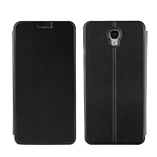 Owbb Hülle für Oukitel K6000 Plus Handyhülle Hard Plastik PU Ledertasche Flip Cover Tasche Hülle Case mit Stand Function Retro Klapphülle Design Schwarz
