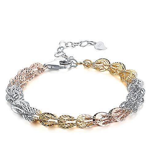 GUANHONG Damen Armband, S925 Sterling Silber Armband Koreanische Version der einfachen Phoenix Kette Armband Schmuck Mädchen Mode Farbe Gold und Silber Schmuck Geschenk für mothe