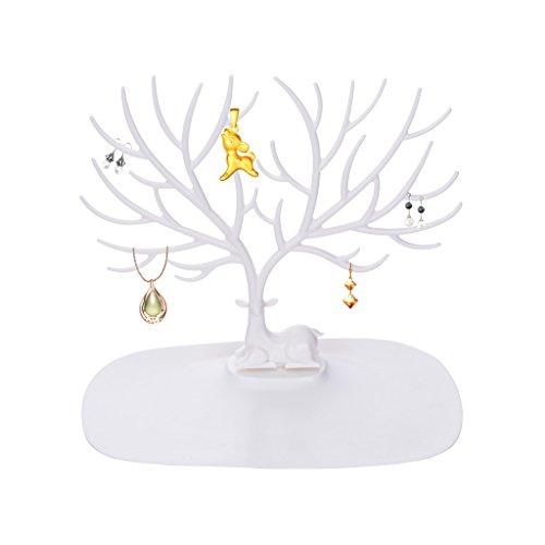WOLFTEETH Arbre Porte Bijoux arbre à bijou présentoir pour boucles d'oreilles, colliers, bracelets, montres et serre-tête etc. 737901/ Cerf