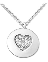 Miore - MPS056N - Collier Femme - Argent 925/1000 2.29 Gr - Diamant 0.015 cts