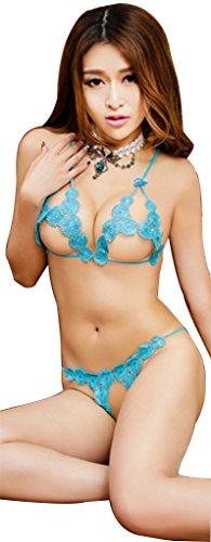 Ailin home- Sexy Dreipunkt-Versuchung Sexy Unterwäsche Flirtatious Dreipunkt Drei-Farben Blau