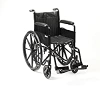 Drive DeVilbiss Healthcare S1 Economy Steel Self-Propelled Wheelchair with Stylish Mag-Wheels