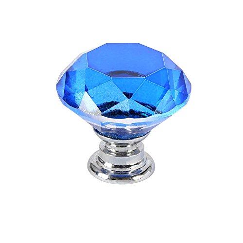 Sunshay Door handle 30mm 8Color Diamond Crystal Glass Pull Cabinet Drawer Door Knob Handle 1 Pc