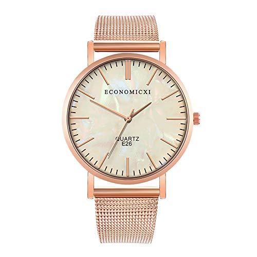 Herren Uhren,Pottoa Mode Einfache Edelstahl Mesh GüRtel Uhr Platte Herren Quarzuhr Herren Uhren Automatik Damen Uhren Sale Billige Uhren Herren Uhren Lederband Damen Uhren