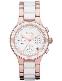 Dkny damen armbanduhr chronograph quarz verschiedene materialien ny8502