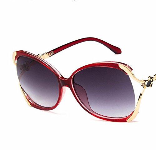 Lubier 1Polarisierte Sonnenbrille Frauen Rahmen rund Metall CLEAR LENS Retro Geek Fashion Brille Freizeit Sonnenbrille