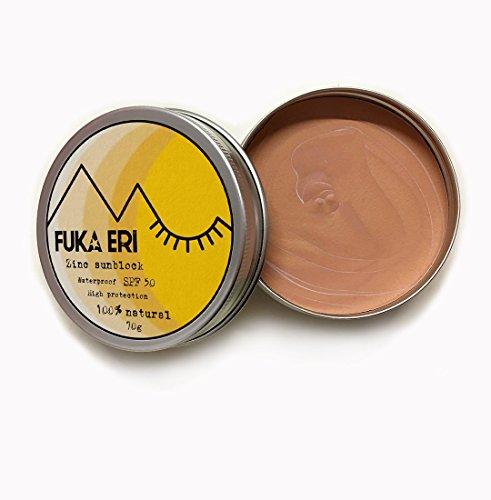 Freundliche Sonnenschutz (FUKA ERI Sonnencreme mit Zink. Organische und natürliche zutaten. Sonnenschutz 50 SPF, wasserfest. Gesicht und Körper)