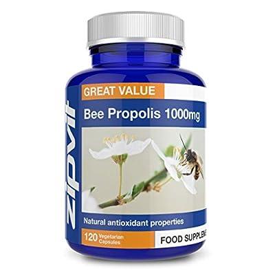 Bee Propolis 1000mg   120 Capsules   60 Servings   Made in UK