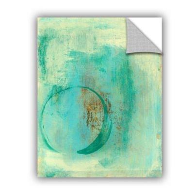 Elana Ray's Teal Enso Art Appeelz Wanddekoration, abnehmbar, Blau 18x24