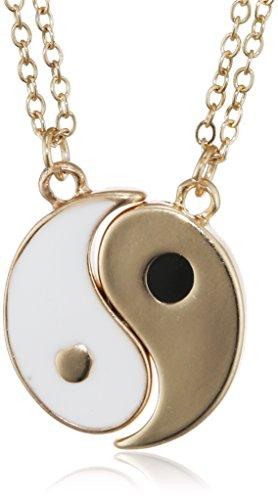 Lux Accessories - Collane con simbolo della pace, Yin Yang, Best Friends Forever, lettere BFF - Owl Pace