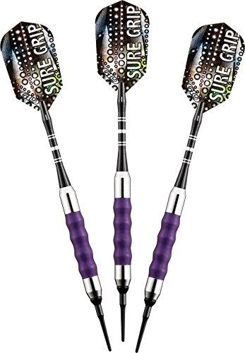 Viper Sure Grip Dartpfeile mit weicher Spitze, Unisex-Erwachsene, violett, 16 Grams - Bullseye Light Violett