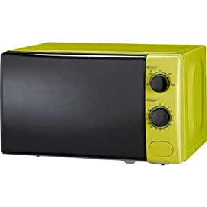 Sparkling ColourMatch 17L Manual Microwave - Apple Green with accompanying HSB Microfibre Cleaning Glove