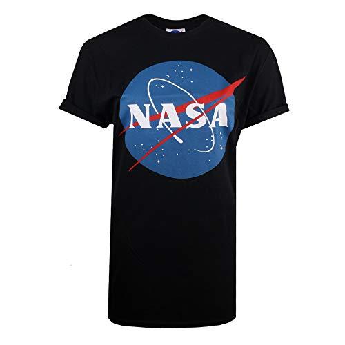 Nasa Circle Logo, Camiseta para Mujer, Azul Navy, 38 (Talla del Fabricante:...