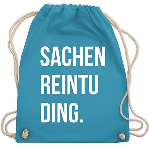Shirtracer Festival Turnbeutel - Sachenreintuding - Unisize - Hellblau - WM110 - Turnbeutel und Stoffbeutel aus Bio-Baumwolle