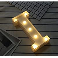 Sunei.f - Luces LED para Letras del Alfabeto, Letras de plástico Blancas, decoración de Luces
