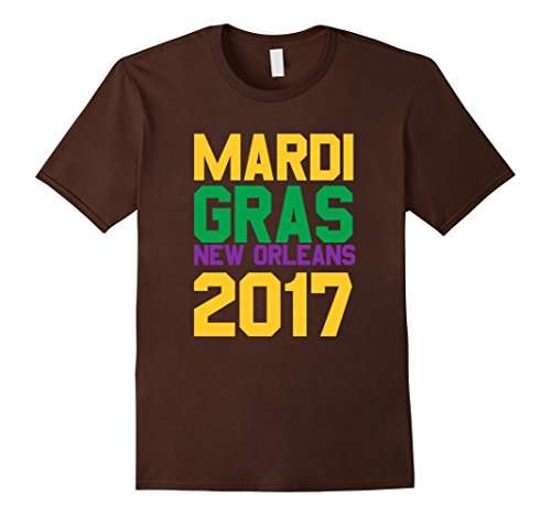 Ideen Mardi Shirt Gras (Mardi Gras New Orleans 2017 Colorful Gift Idea T-Shirt Herren, Größe S)