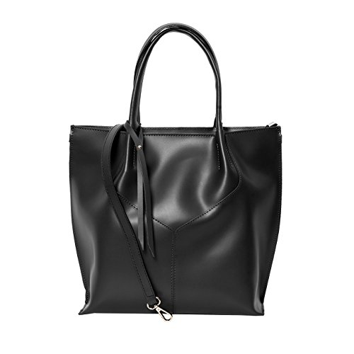 Shopper , Borse Tote , Sacchetto( 33/ 34/ 11 cm )Pelle Mod. 2049 by fashion-formel nero