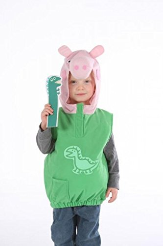 Peppa Kleinkind Kostüm Pig (Childrens Boys George Pig Dino Tabard Costume for Fairytale Peppa Cartoon Fancy Dress 2-4yrs TODDLER by Partypackage)