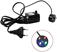 Ac 220V Submersible Fountain Aquarium Pond Spare Replacement Pump With 4 Led (3W)