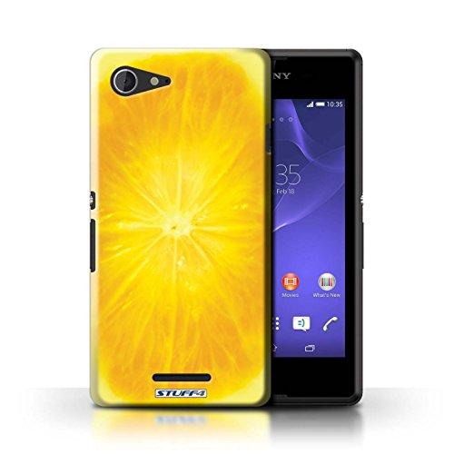 Kobalt® Imprimé Etui / Coque pour Sony Xperia E3 / Orange / Peau conception / Série Fruits Orange